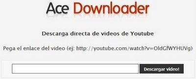 acedownloader Ace Downloader, para descargar videos de Youtube