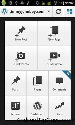 1 wordpress1 Applications for blogging from Android